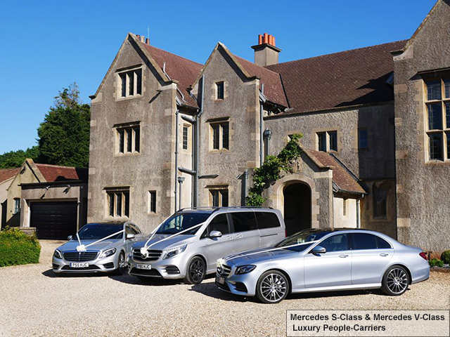 Mercedes wedding cars at DeGournay Motor Car Company